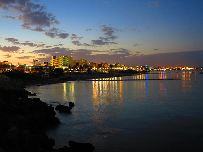 Protaras Bay by Night